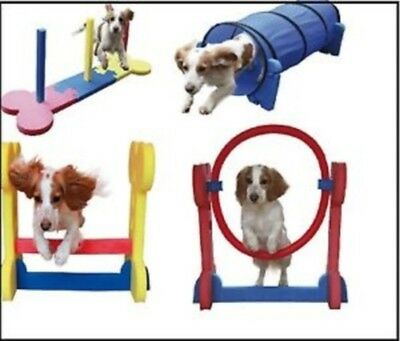 ROSEWOOD HOME AGILITY KIT SMALL DOG garden obedience- tunnel / hoop jump / weave