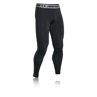 Under Armour HeatGear Uomo Nero Sport Allenamento Compressione Collant Pantaloni