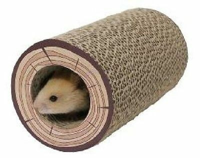 Rosewood Pet Products Boredom Breaker Chew Tube Shred A Log Corrugated Tunnel
