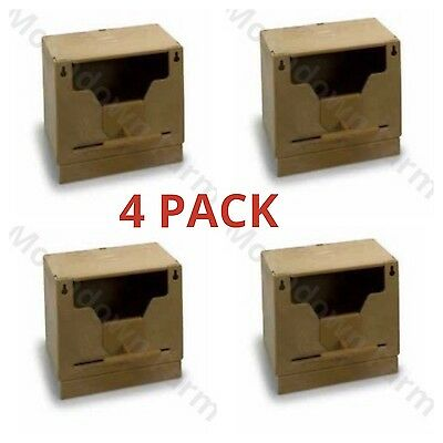 4 x PLASTIC FINCH NEST BOX WITH HOOKS Front & Back Exotics Finches Wide Opening