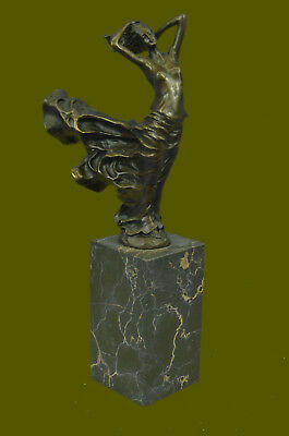 Museum Quality J. Erte Naked Girl Bronze Sculpture Bookend Book End Statue