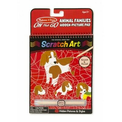Melissa and Doug On The Go - Scratch Art - Animal Families