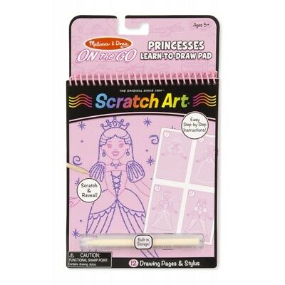 Melissa and Doug On The Go - Scratch Art - Princesses