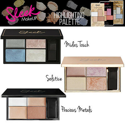 Sleek MakeUP - Highlighter Palette Shimmer Pulver Sahne Sammlung