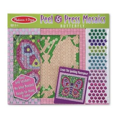 Melissa and Doug Peel & Press Sticker by Number Mosaics Butterfly