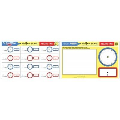 Melissa and Doug - Telling Time Write-A-Mat