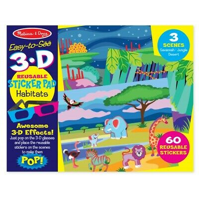 Melissa and Doug Easy-to-see 3D - Reusable Sticker - Habitats