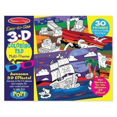 Melissa and Doug Easy-to-see 3D - Colouring Pad - Blue