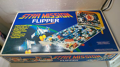 jouet vintage flipper star mission battery operated BE complet