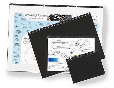 A1 A2 A3 A4 portfolio Ring Binder display presentation 5 Sleeves Acid Free