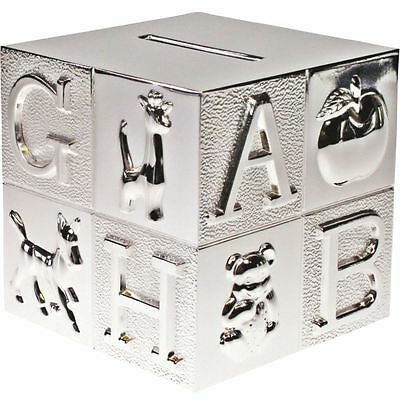 Silver Plated Abc Money Box Personalised Christening Gift,baptism Gift- Engraved