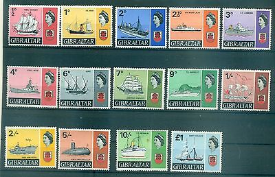 NAVIRES - SHIPS GIBRALTAR 1967 Common Stamps