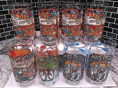Vintage McDonald's 1981 Lot of 8 The Greatest Muppet Caper Glasses