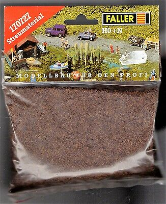 FALLER 170727 - GRASS FIBRE DARK BROWN 35g - NUOVO