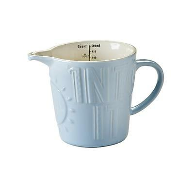 Mason Cash BLUE MEASURING JUG 500ml Bake My Day - Earthenware EMBOSSED CUP