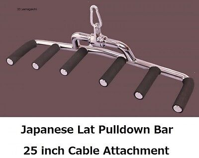 Japanese Seated Row/Lat Pulldown Grip Handle Bar 25inch Cable Attachment
