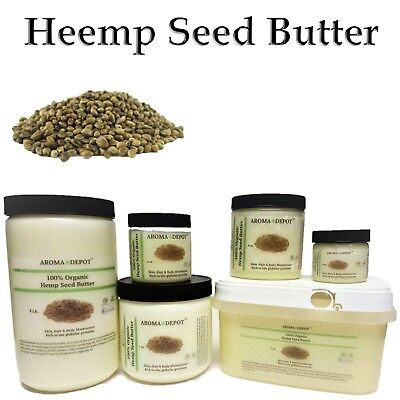 Hemp Seed Butter Pure Organic Raw Fresh Cold Pressed 2oz 4 oz 8oz 1LB 2lb 3 Lb