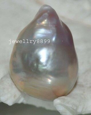GORGEOUS! Natural Rainbow lavender 27mm Baroque nucleated Pearl J7825
