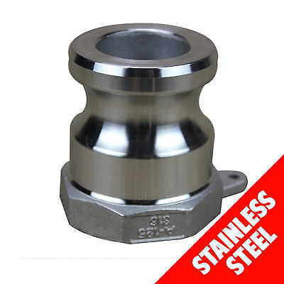 "Camlock STAINLESS STEEL 316 40mm (1 1/2"") Type A Male Adaptor x Fem BSP Cam Lock"