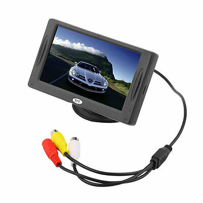 4.3 inch TFT LCD Car Monitor Reverse Rearview Color Camera DVD VCR CCTV