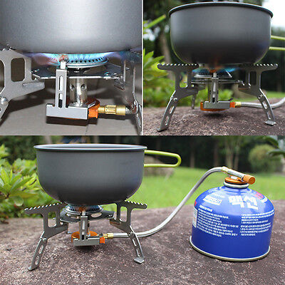 Foldable Split  Burner Gas Stove Picnic Furnace Outdoor Camping Cooking 3500W SY