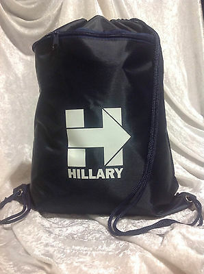 "Hillary Clinton ""H"" Drawstring Tote Backpack"