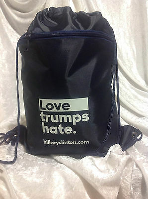 Hillary Clinton LOVE TRUMPS HATE  Drawstring Tote Backpack