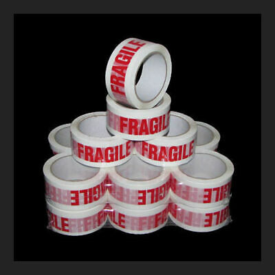 FRAGILE Packing Tape - 45 micron - 66m x 48mm - 72 Rolls