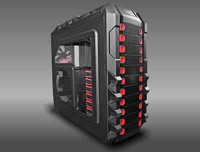 HALCONES CL-86, Full ATX, EATX, XLATX Gaming PC Tower Case Fan Controller REDFAN