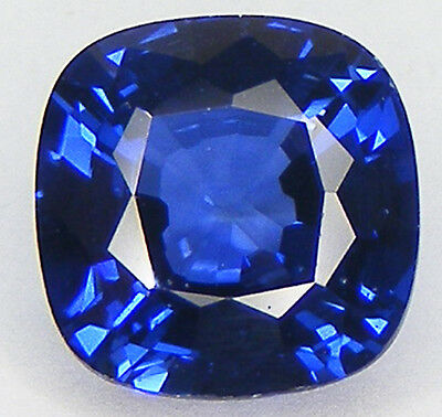 2.53CT. CUSHION 8x8 MM. DIFFUSION TREATED BLUE SYNTHETIC SAPPHIRE