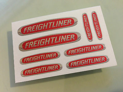TAMIYA 1/14 KNIGHT HAULER - BLACK, RED and CHROME sticker FREIGHTLINER CASCADIA
