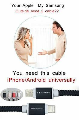 Duales 2in1 Micro Usb Ladegerät Für Android Und Ios Lightning Beide Seitensilber Cell Phone & Smartphone Parts Cell Phones & Accessories