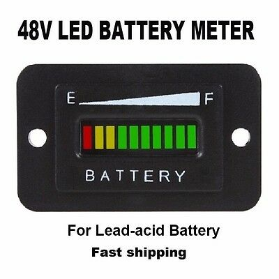 48V Volt BATTERY INDICATOR METER GAUGE for EZGO Club Car Yamaha Golf Cart