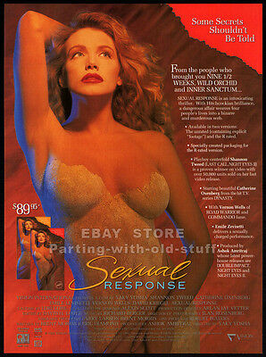 SEXUAL RESPONSE__Original 1992 Trade AD promo__SHANNON TWEED__CATHERINE OXENBERG