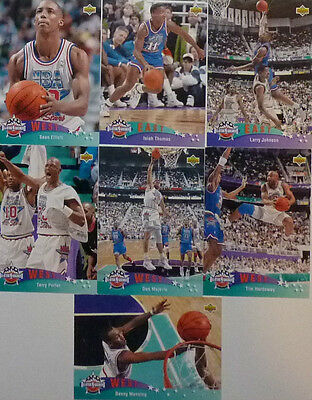 Lot de 7 Cartes cards basket NBA Upper Deck UD 1992/93 All Star Game Vr US
