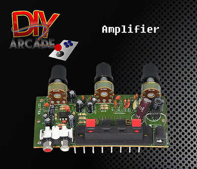 Stereo Amplifier for Arcade 12V with 2xRCA Red and White Input & Outputs