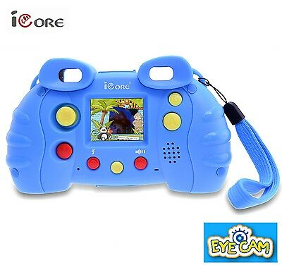 Toys Camera With Funny Games for Kids Digital Photo Blue USB TV Output Free Ship