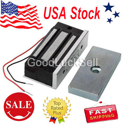 12V Electromagnetic Magnetic Door Lock 60KG Holding Force Access Control US FAST