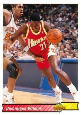 Carte card NBA Upper Deck 92/93 N°97 / 400 Dominique WILKINS Atlanta HAWKS