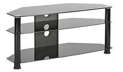 """Plasma tv stand 3 glass shelves for 42"""" to 55"""" inch LCD LED Samsung LG smart tv"""