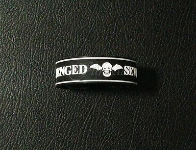 Avenged Sevenfold Rubber Bracelet Wristband Silicon Music Logo Rock Band Badge