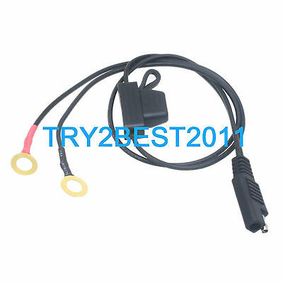 SAE Battery Tender Fused Ring Terminal Quick Connect Harness For Deltran Charger