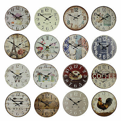 Hometime Vintage Mdf Wall Clock 30Cm New Stylish Gift Boxed W7723