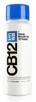 CB12 Oral Rinse Mint/Menthol 250ml - Blue Bottle