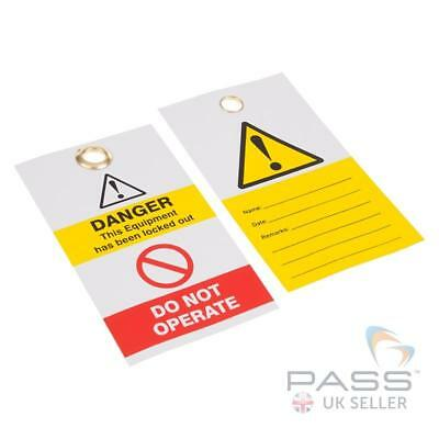 Yellow Exclamation - Disposable Tag - Pack of 10