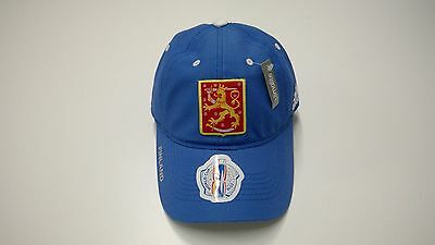 2016 World Cup of Hockey Team Finland adidas Hat Cap Slouch Buckle Adjustable OS