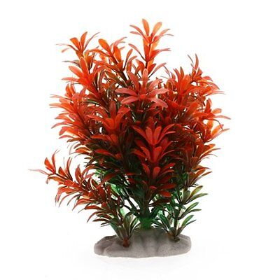 Plante Artificielle Decoration pour Aquarium reservoir de poissons -Rouge VertY3