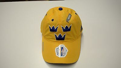 2016 World Cup of Hockey Team Sweden adidas Hat Cap Slouch Buckle Adjustable OS
