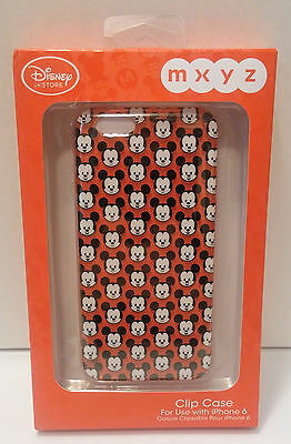Mickey Mouse iPhone 6 Clip Case Disney Store MXYZ w/Screen Guard and Cloth
