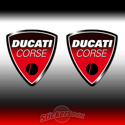 2 Adesivi DUCATI CORSE stickers - old logo - all models - MOTO GP  cm4